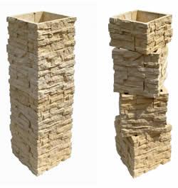 Столбы для забора имитация камня заборы из профнастила в душоново